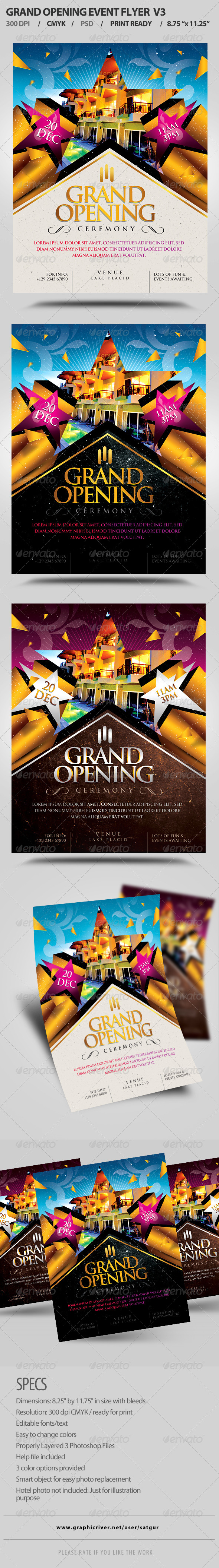 GraphicRiver Grand Opening Event Flyer V3 8042854