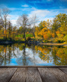 Autumn colorful foliage over lake - PhotoDune Item for Sale