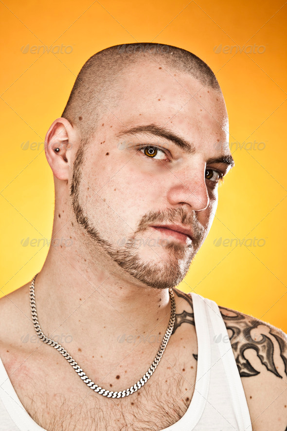 man with tattoos - Stock Photo - Images
