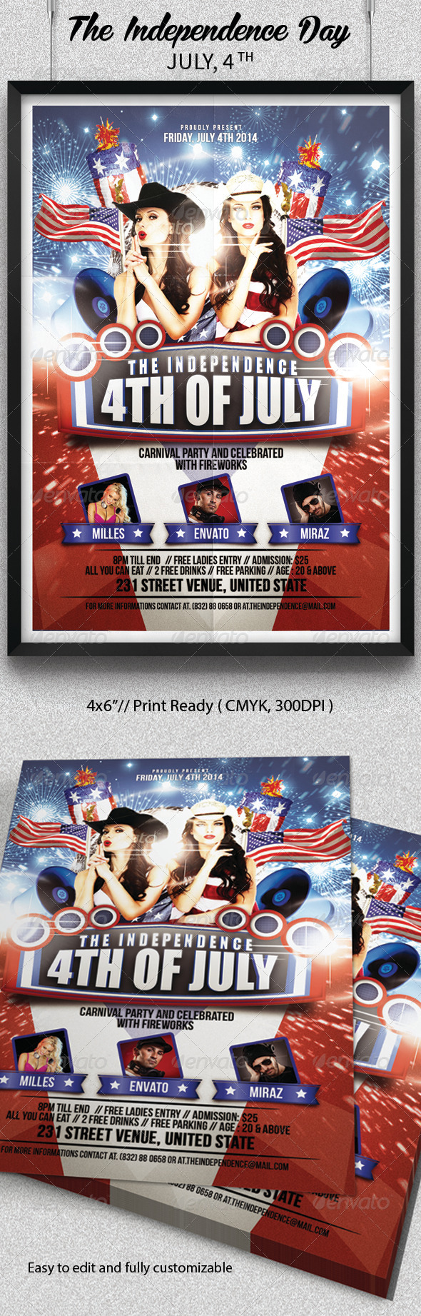 GraphicRiver Independence Day Flyer July 4th 8043278