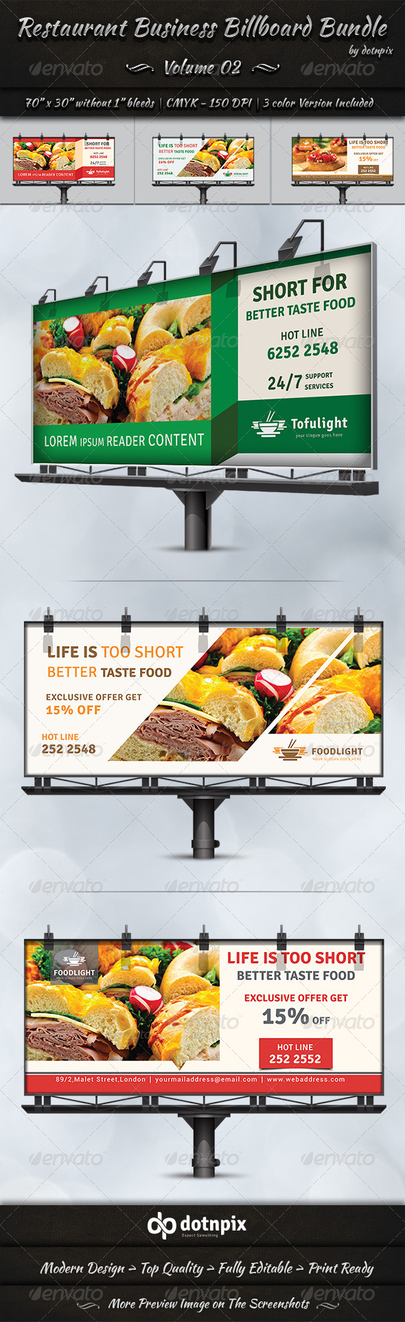 Restaurant Business Billboard Bundle Volume 2