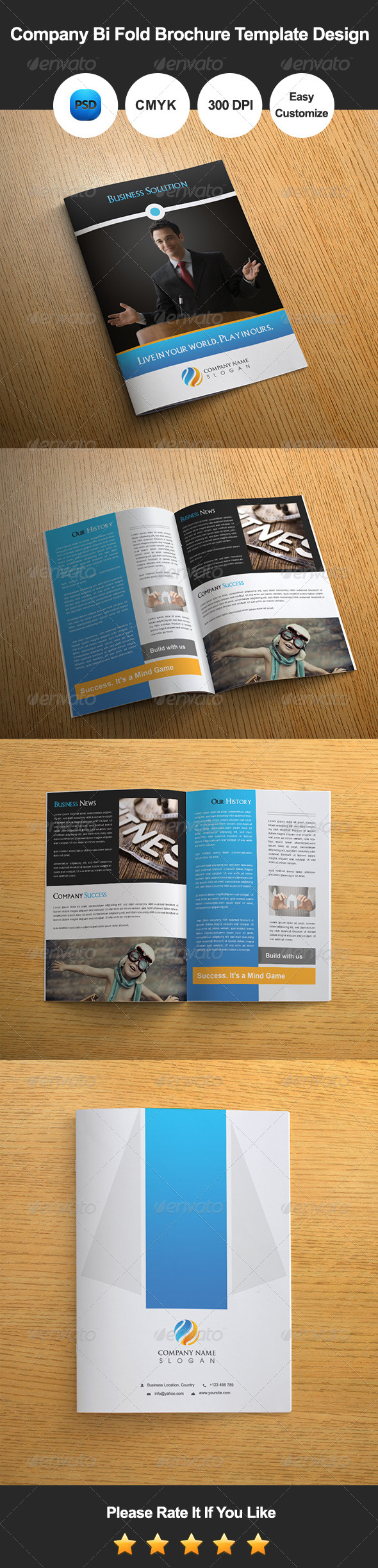 GraphicRiver Company Bi Fold Brochure Template Design 8033708