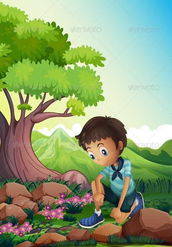 GraphicRiver Boy in the Forest 8043610
