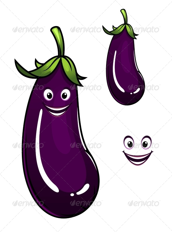 GraphicRiver Eggplant Cartoon 8043761