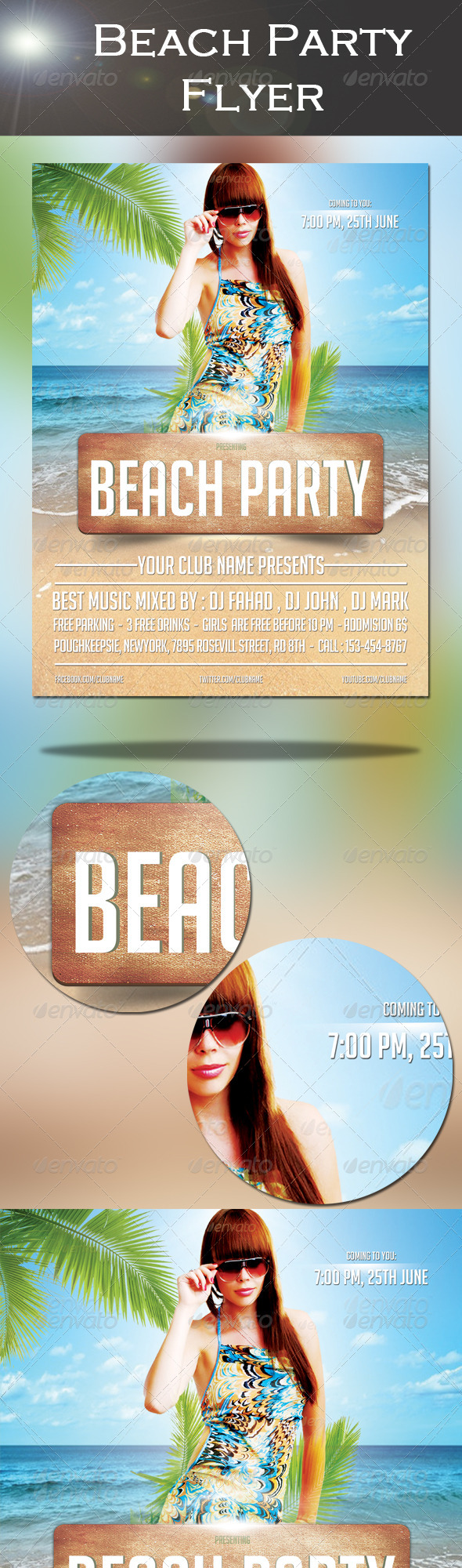GraphicRiver Beach Party Flyer 8037677