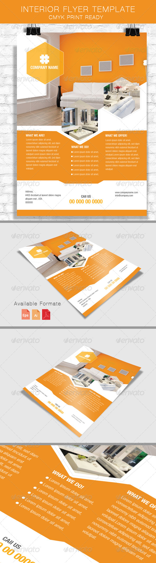 GraphicRiver Interior Flyer Template 8043814
