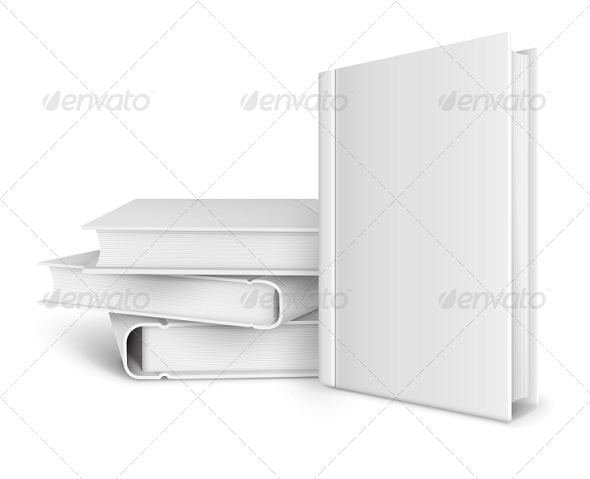 GraphicRiver Book Template with Blank Cover and Pile of Books 8043923