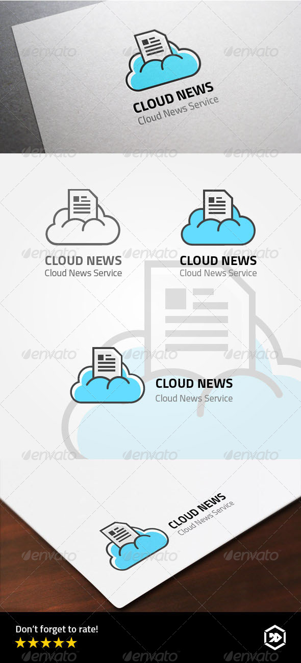 GraphicRiver Cloud Newspaper 8043934