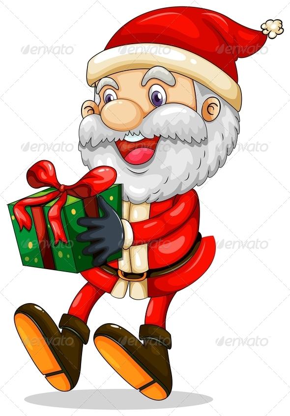 GraphicRiver Santa holding Present 8043964