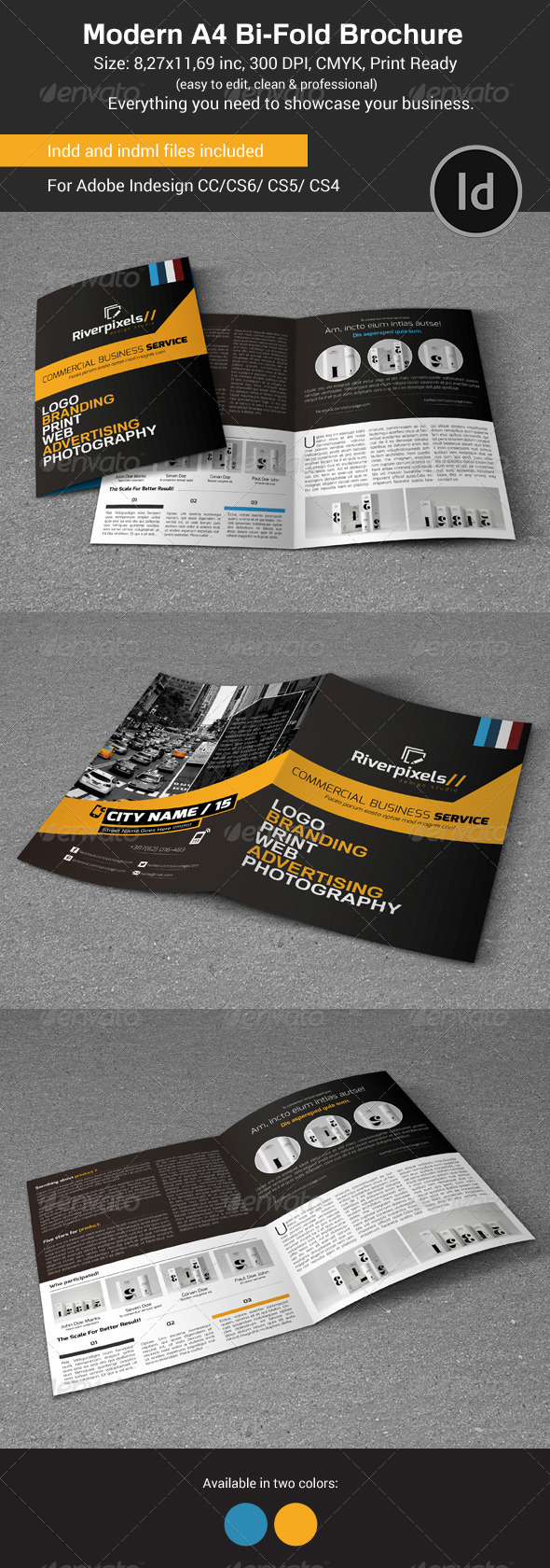 GraphicRiver Modern A4 Bi-Fold Brochure 8044269