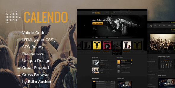ThemeForest Calendo Music Responsive HTML Template 7991998