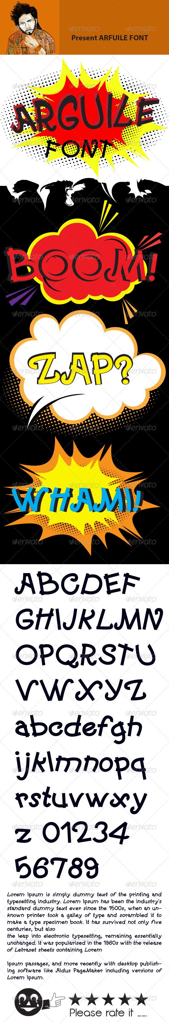 GraphicRiver Arguile Font 8044397