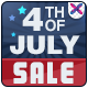 July 4th Sale Banners - GraphicRiver Item for Sale