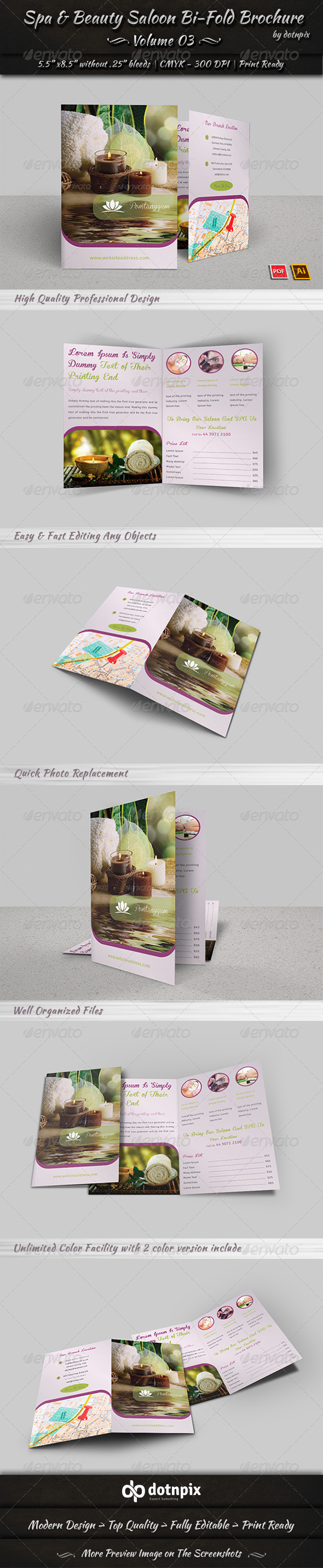GraphicRiver Spa & Beauty Saloon Bi-Fold Brochure Volume 3 8044665