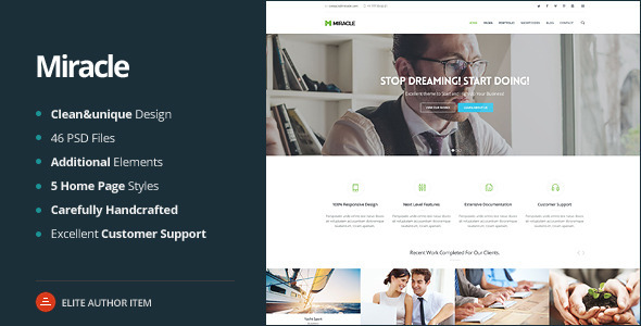 ThemeForest Miracle Multi-Purpose PSD Template 8011825