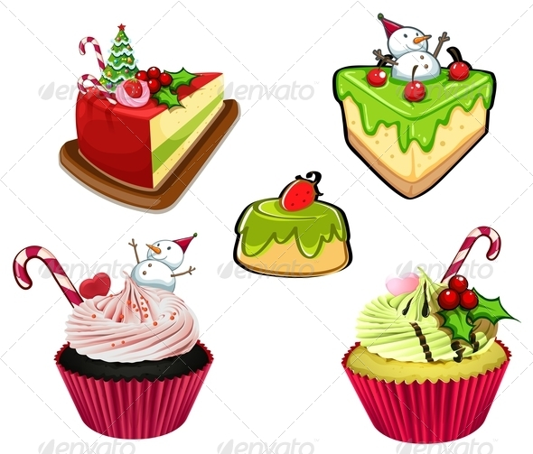 GraphicRiver Baked Desserts for Christmas 8044950