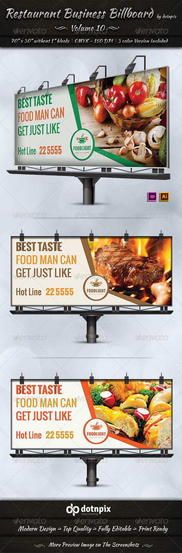 GraphicRiver Restaurant Business Billboard Volume 10 7998386