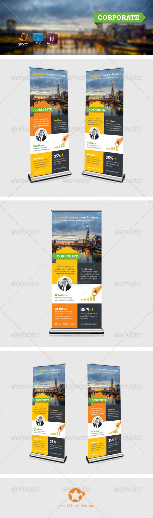 GraphicRiver Corporate Roll-Up Templates 8045004
