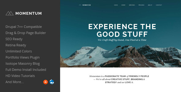 Momentum - Awesome Drupal Theme , Drupal page builder theme
