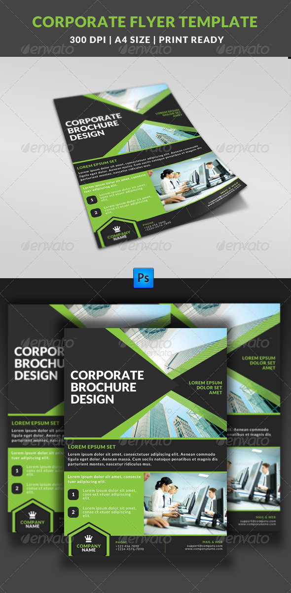 GraphicRiver Corporate Business Multipurpose Flyer Template 7 8045346