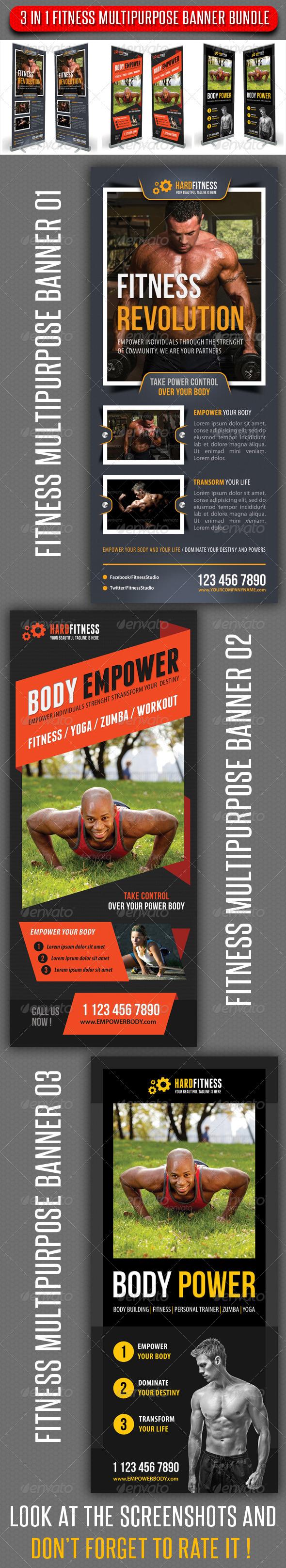 GraphicRiver 3 in 1 Fitness Multipurpose Banner Bundle 03 8039232