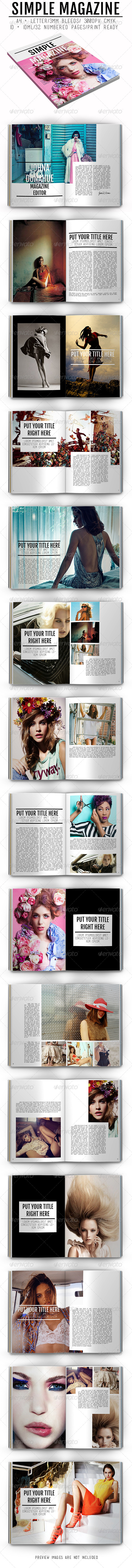 GraphicRiver Simple Magazine 8045386