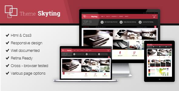 Skyting Magazine HTML5 template