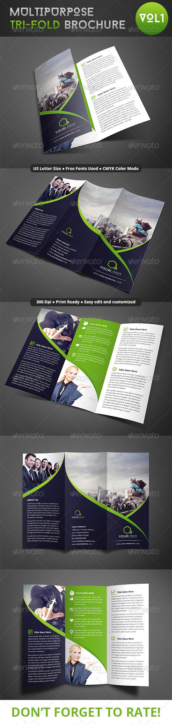 GraphicRiver Multipurpose Trifold Brochure 8045479