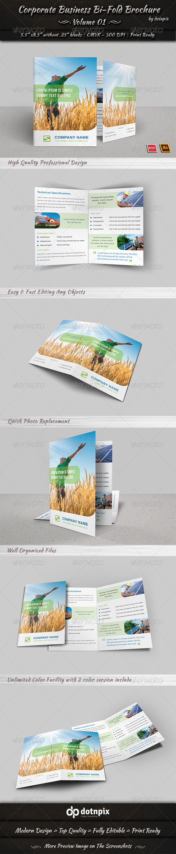 GraphicRiver Corporate Business Bi-Fold Brochure Volume 1 8045520