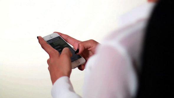 Businesswoman Smartphone Messaging 01