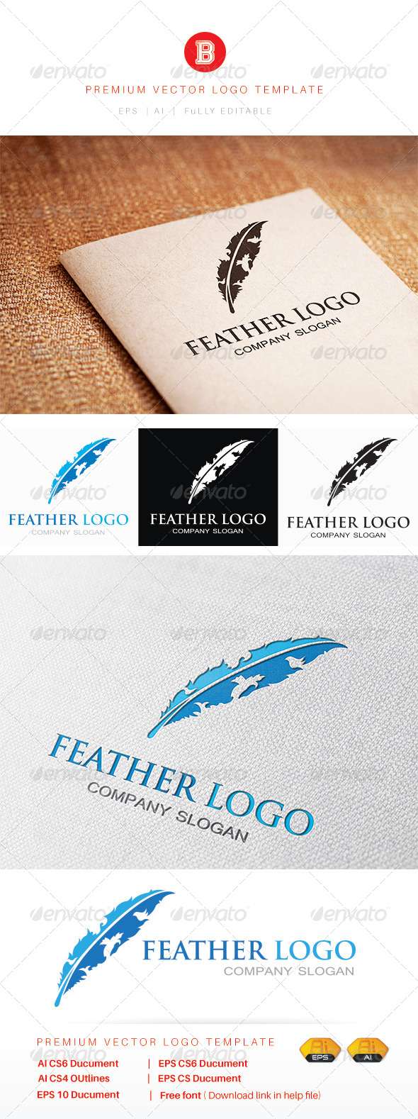GraphicRiver Feather Logo 8045837