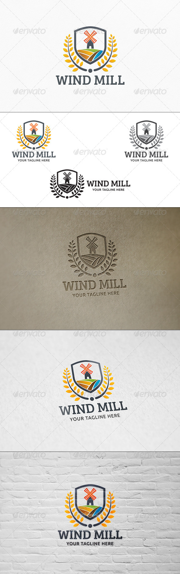 GraphicRiver Wind Mill Logo Template 8045853
