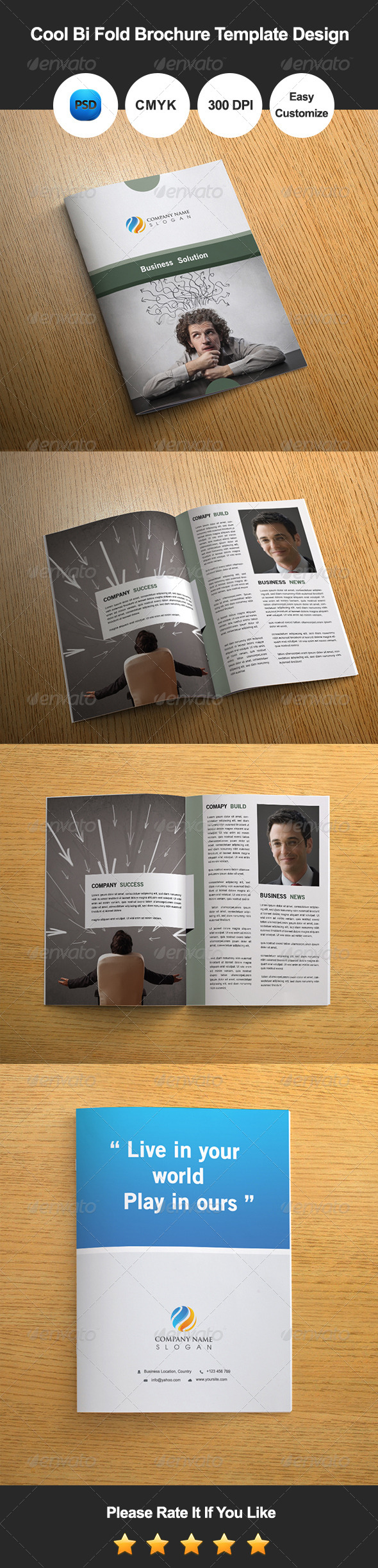 GraphicRiver Cool Bi Fold Brochure Template Design 8045878