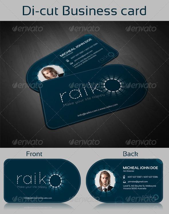 GraphicRiver Di-cut Business Card Template 8045943