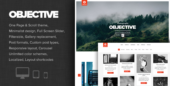 ThemeForest Objective Responsive Portfolio Photography Theme 8045968