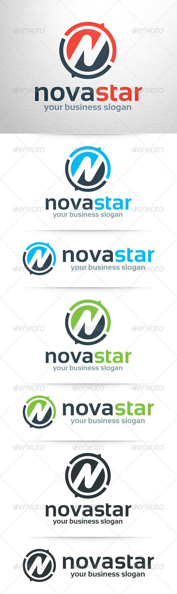 GraphicRiver Novastar Letter N Logo 8046009