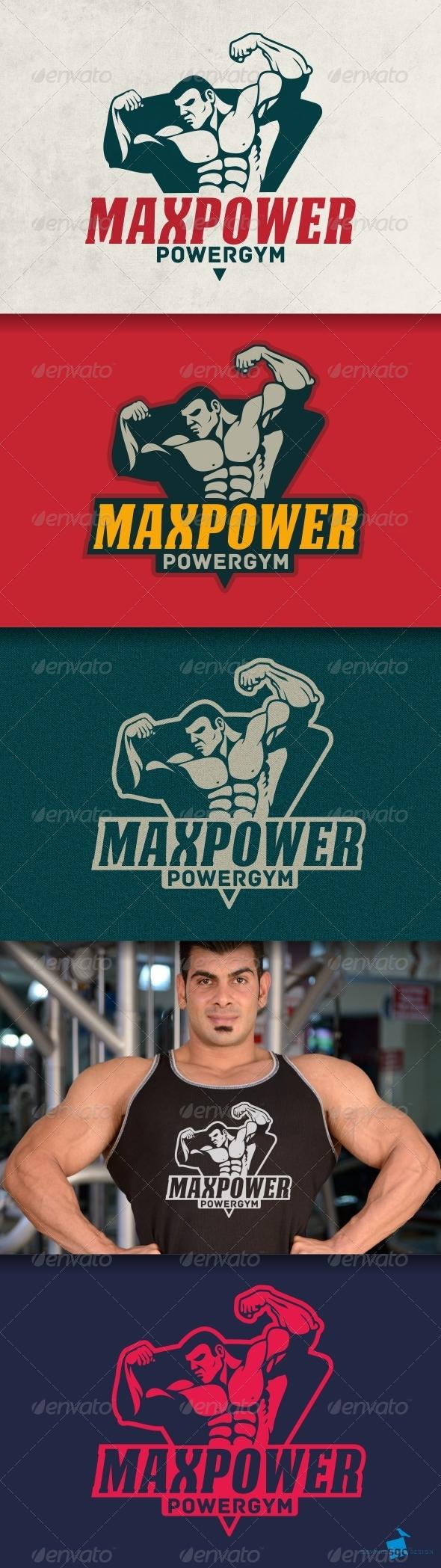 GraphicRiver Powergym Logo 8046156