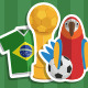 Brazil Football Stickers - GraphicRiver Item for Sale