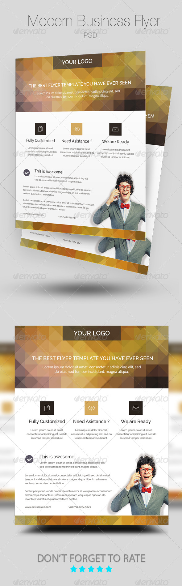 GraphicRiver Modern Business Flyer Poster Template 8046395