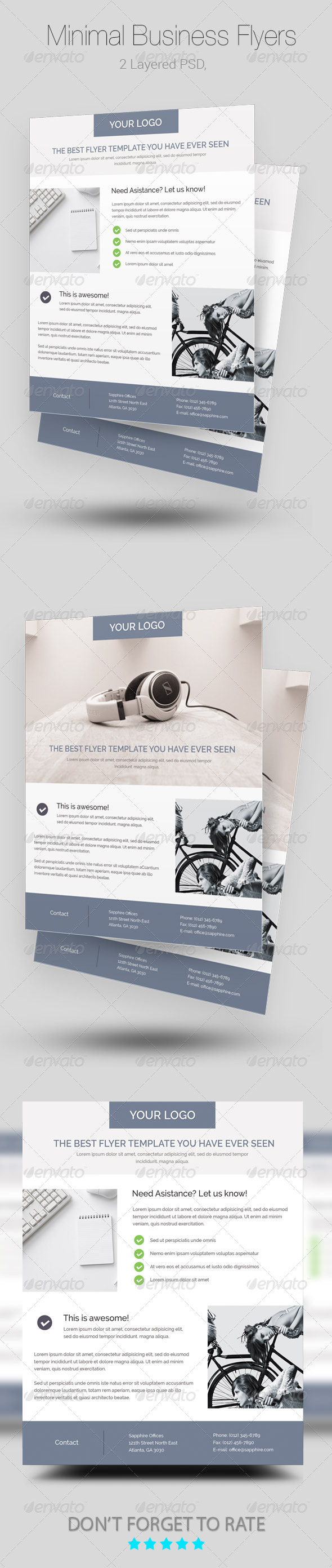 GraphicRiver Minimal Business Flyer Poster Templates 8046895
