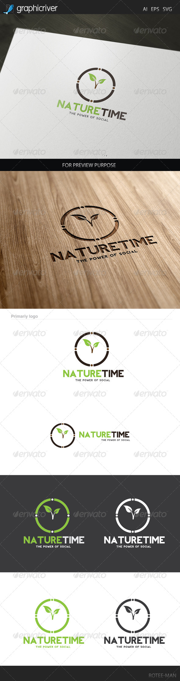 GraphicRiver Nature Time Logo 8046981