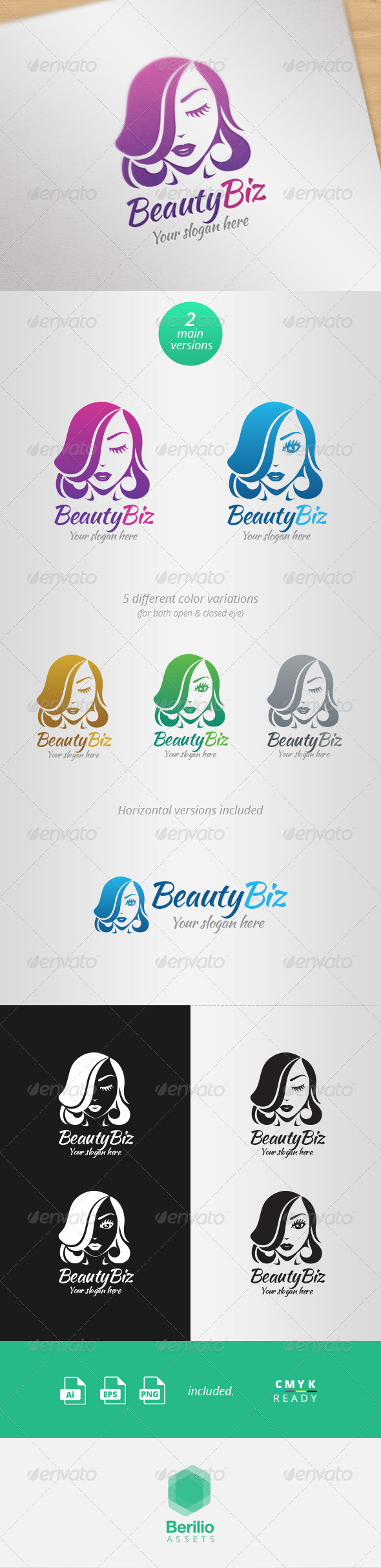 GraphicRiver Beauty Biz Logo Template 8042483