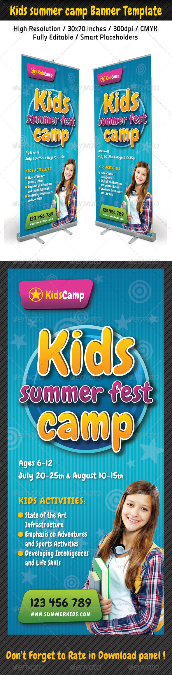 GraphicRiver Kids Summer Camp Banner Template 02 8047283
