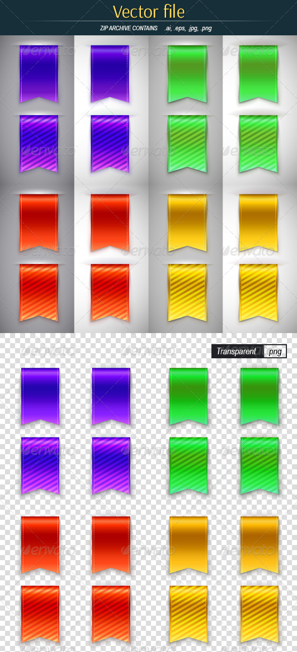 GraphicRiver Color Bookmarks for Book 8047624