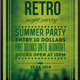 Retro Night Party Typography Poster - GraphicRiver Item for Sale