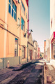 street view of typical houses in Lisbon, Portugal, Europe - PhotoDune Item for Sale