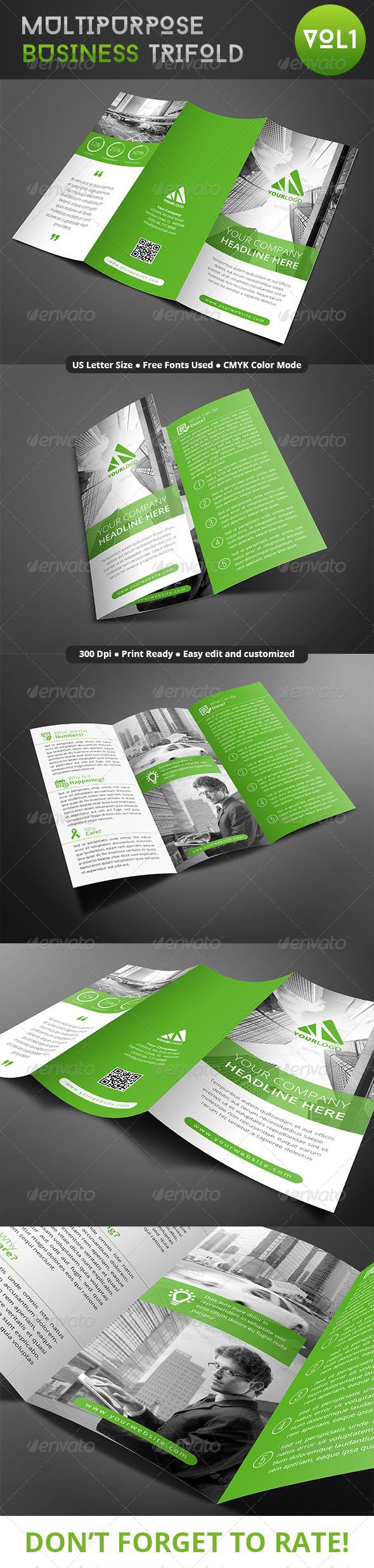 GraphicRiver Multipurpose Business Trifold 8047740