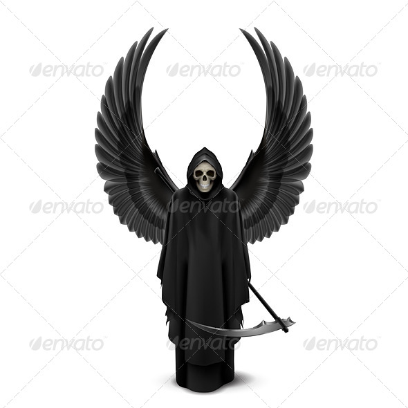 GraphicRiver Angel of Death with Wings 8047848