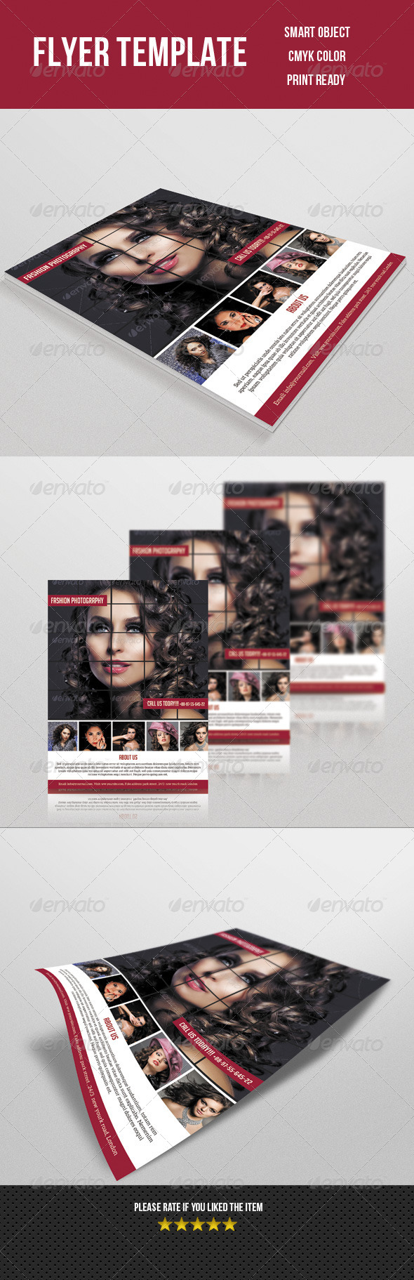 GraphicRiver Fashion Photography Flyer 8047854