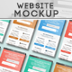 Responsive Website Mock-Up - GraphicRiver Item for Sale